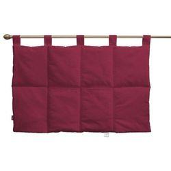 wezgłowie na szelkach, bordowo-buraczkowy sztruks, 90 x 67 cm, manchester marki Dekoria