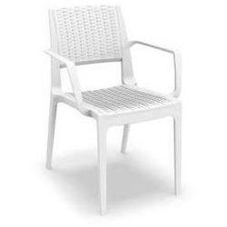 Krzesło ogrodowe na taras z polirattanu Capri Siesta białe