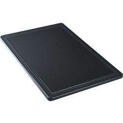 Deska do krojenia haccp 600x400 mm, z wycięciem, czarna | , 341637 marki Stalgast