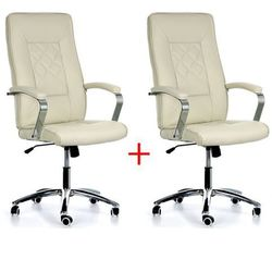 Krzesło biurowe Rombus, 1+1 GRATIS, beżowe