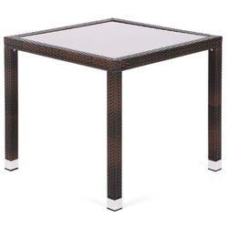 Home & garden Stół ogrodowy technorattanowy mori basic square brown (5902425322628)