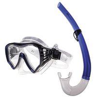moana - zestaw do nurkowania - biało-niebieski marki Spokey