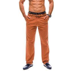 Pomarańczowe spodnie chinosy męskie Denley 6186 - POMARAŃCZOWY, GLO-STORY