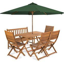 Fieldmann meble ogrodowe EMILY 6L + parasol zielony