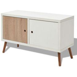 szafka pod tv z podwójnymi drzwiczkami, 88x34x52 cm, biały marki Vidaxl