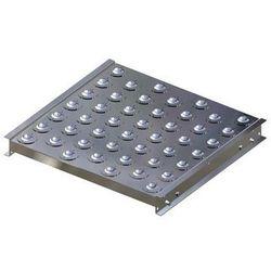 Stół kulowy, wys. konstrukcji 70 mm, szer. przenośnika 500 mm, dł. 500 mm, podzi