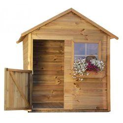 4iq Drewniany domek ogrodowy dla dzieci mateusz