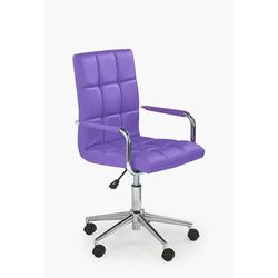 Fotel młodzieżowy obrotowy HALMAR GONZO 2 fioletowy