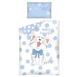 Detexpol Pościel dziecięca 100x135cm niebieski kotek