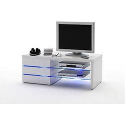 Stolik tv iluminato 110 cm, biały, wysoki połysk marki Sunchairs
