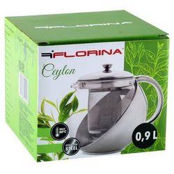Zaparzacz do herbaty FLORINA Ceylon Srebrny (900 ml)