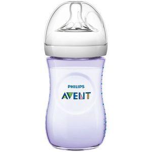 Butelka dla niemowląt natural 260 ml różowa scf693/14  marki Avent