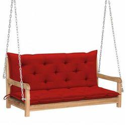 Drewniana huśtawka z czerwoną poduszką - paloma 2x marki Elior