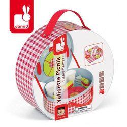 Zestaw piknikowy w walizeczce z 21 akcesoriami, Janod - produkt z kategorii- walizeczki