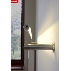 Kinkiet linkowy LED do montażu ściennego (zasilanie podtynkowe) - przesłona transparentna - biały ciepły