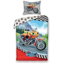 4home Halantex dziecięca pościel bawełniana fast wheel club moto, 140 x 200 cm, 70 x 90 cm