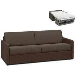 4-osobowa kanapa z ekspresowym mechanizmem rozkładania z tkaniny CALIFE - Kolor: czekoladowy - Wymiary miejsca do spania: 160 cm - Materac 22 cm, kolor brązowy