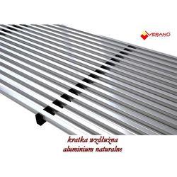 kratka wzdłużna - 25/360 do grzejnika VK15, aluminium naturalne, profil zatrzaskowy