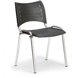 B2b partner Plastikowe krzesła smart - chromowane nogi