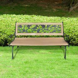 Vidaxl  ławka ogrodowa z motywem róży 122 cm (8718475802471)