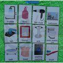 Łazienka/ akcesoria karty edukacyjne- wersja w j. angielskim marki Bystra sowa