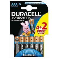 6 x bateria alkaliczna Duracell Duralock Turbo Max LR03 AAA (blister) z kategorii Baterie