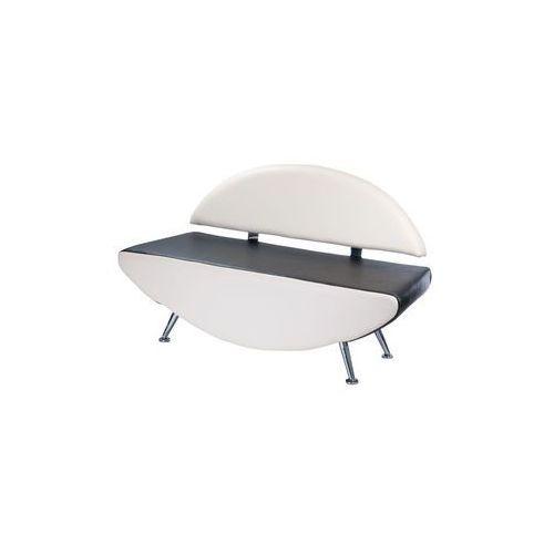 Kanapa do poczekalni Carini BD-6710 biało-czarna, Beauty System