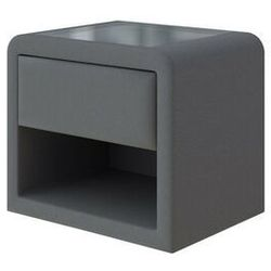 Tapicerowany stolik nocny Enzio Prestige, kolor Savana Grey