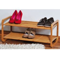 Szafka na buty z certyfikowanego bambusa, regał na buty, szafka na buty do przedpokoju, komoda na buty, drewniana szafka na buty, Kesper