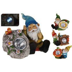 Lampa solarna krasnal figurka kamienna niebieski kapelusz - Wzór I, ProGarden