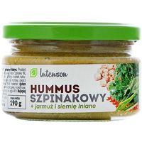 Intenson  190g hummus szpinakowy z jarmużem i siemieniem lnianym