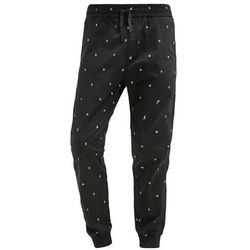 Carhartt WIP MADISON Spodnie materiałowe black/white rinsed, kolor czarny, od rozmiaru M