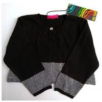 Kardigan Krótki sweter Czarno Srebrny Rozmiar 86, kolor czarny