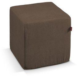 pufa kostka twarda, brązowy szenil, 40x40x40 cm, living marki Dekoria