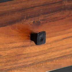 Vidaxl szafka pod tv, 120x30x40 cm, lite drewno odzyskane i stal