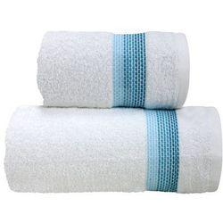 Greno Ręcznik bawełniany ombre biały aqua