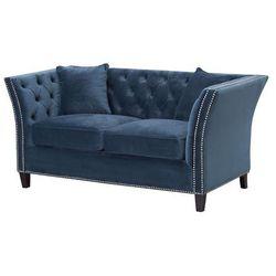 Dekoria Sofa Chesterfield Modern Velvet Midnight 2os., 172 × 87 × 82 cm