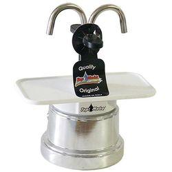 Kawiarka Top Moka Mini 2 filiżanki - srebrno biała