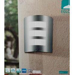 Srebrny kinkiet ogrodowy 1xE27 IP44 outlet (9002759323745)