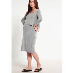 MAMALICIOUS MLMELOW JUNE Sukienka z dżerseju medium grey melange, kup u jednego z partnerów