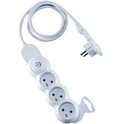 Przedłużacz 3-gn 3m płaska wtyczka biały Orno OR-AE-1313/W/3M - biały