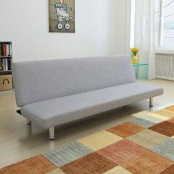 vidaXL Sofa kanapa rozkładana, jasnoszara z kategorii Sofy