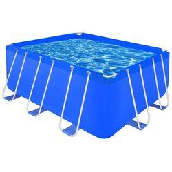 Vidaxl prostokątny basen ogrodowy ze stelażem 400 x 207 122cm (8718475875499)