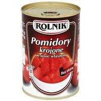 400g pomidory krojone w sosie własnym marki Rolnik