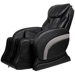 Vidaxl fotel masujący z eko-skóry, elektryczny, regulowany, czarny (8718475890959)