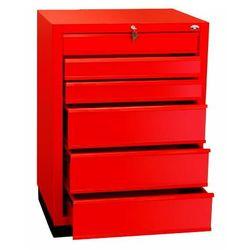 Szafka narzędziowa z 6 różnymi szufladami na cokole N-1-11-02