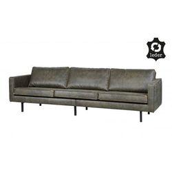 Sofa skórzana duża rodeo - różne kolory wojskowa zieleń marki Be pure