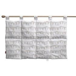 Dekoria Wezgłowie na szelkach, chorągiewki biało-beżowe, 90 x 67 cm, Marina