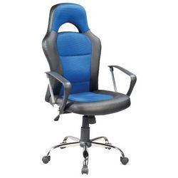 Fotel Obrotowy Q-033 Czarny Niebieski