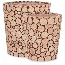 donice ogrodowe, 2 szt., prawdziwe drewno marki Vidaxl